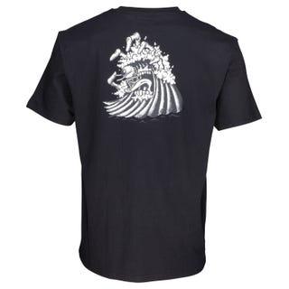 Santa Cruz Bone Wave T-Shirt in Black