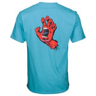 Santa Cruz Clothing F.S.U Hand T-Shirt Cyan