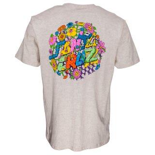 Santa Cruz Baked Dot T-Shirt Athletic Heather