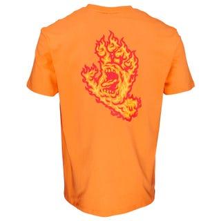 Santa Cruz Flame Hand T-Shirt in Tangerine