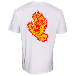 Santa Cruz Flame Hand T-Shirt in White
