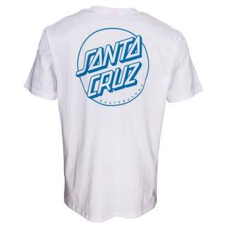 Santa Cruz Opus Dot Stripes T-Shirt White