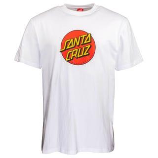 Santa Cruz NEW Classic Dot T-Shirt White