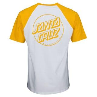 Santa Cruz Opus Dot T Shirt Mustard / White