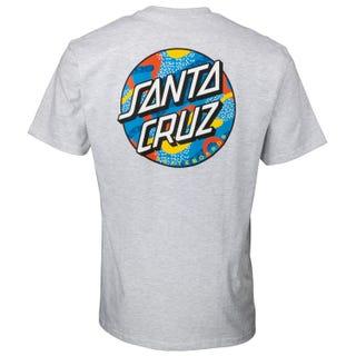 Primary Dot T-Shirt Athletic Heather - Santa Cruz
