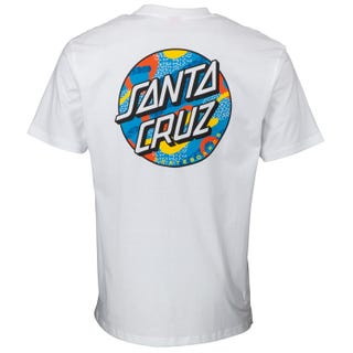 Santa Cruz Primary Dot T-Shirt White