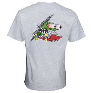 Santa Cruz Slashed T-Shirt Athletic Heather