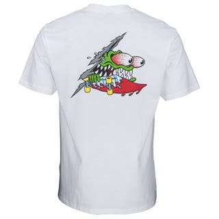 Santa Cruz Slashed T-Shirt White