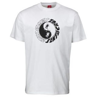 Santa Cruz Organics Collection Scream Ying Yang T-Shirt White