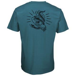 Snake Bite T-Shirt Petrol Blue. Santa Cruz UK