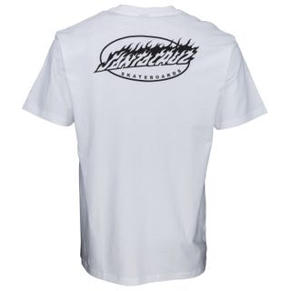 Oval Flame Dot T-Shirt White. Santa Cruz UK
