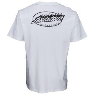 Oval Flame Dot T-Shirt White. Santa Cruz UK