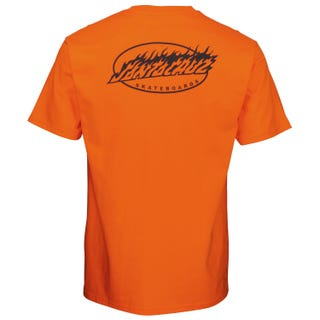 Oval Flame Dot T-Shirt Safety Orange.