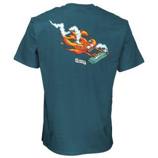 Remillard Lit AF T-Shirt Petrol Blue. Santa Cruz UK