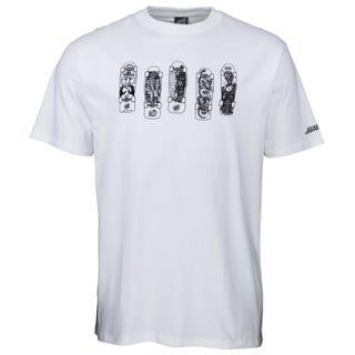 Santa Cruz Kendall Catalog T-Shirt White.