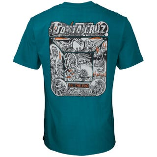 Multimedia Witchcraft T-Shirt Petrol Blue. Santa Cruz UK
