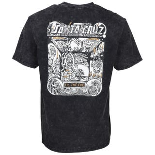 Multimedia Witchcraft T-Shirt Black Acid Wash. Santa Cruz UK