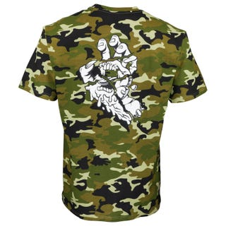 Universal Hand T-Shirt Woodland Camo | Santa Cruz UK