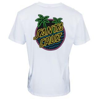Glow Dot T-Shirt in White | Santa Cruz EU