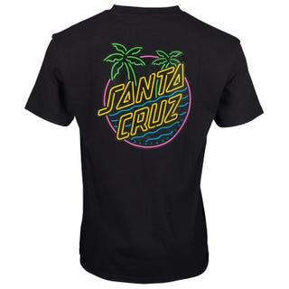 Glow Dot T-Shirt in Black | Santa Cruz EU