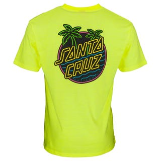 Glow Dot T-Shirt in Safety Green |Santa Cruz UK
