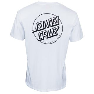Santa Cruz Opus Dot T- Shirt in White