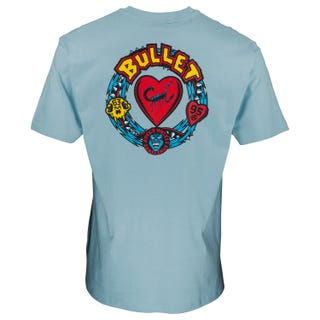 Bullet Poison Heart T-Shirt Powder Blue at Santa Cruz EU