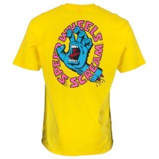 Screaming Hand Scream T-Shirt Yellow