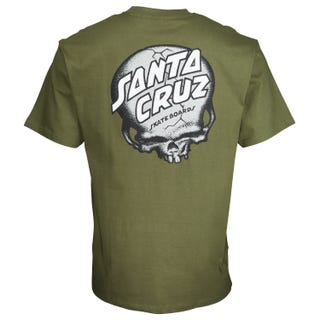 Santa Cruz O'Brien Skull T-Shirt Army Green