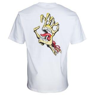 Santa Cruz Vintage Bone Hand T-Shirt White