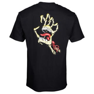 Santa Cruz Vintage Bone Hand T-Shirt Black