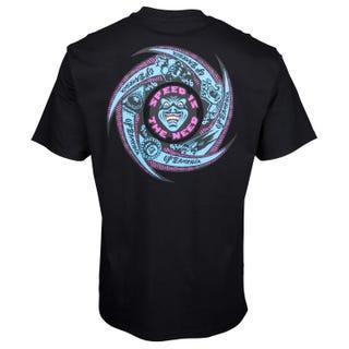 Santa Cruz Speed Wheels Faces T-Shirt Black