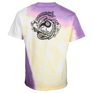 Santa Cruz Dope Planet Fade T-Shirt Yellow / Purple Fold Dye