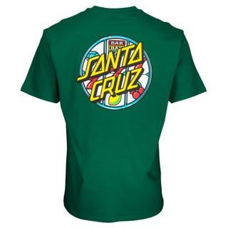 Santa Cruz Jackpot Dot T-Shirt Ever Green
