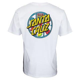 Santa Cruz Jackpot Dot T-Shirt White