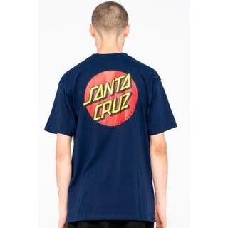 Santa Cruz Classic Dot Chest T-Shirt Dark Navy