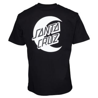 Santa Cruz Moon Dot Mono T-Shirt Black