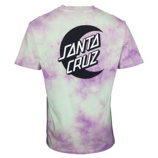 Santa Cruz Moon Dot Mono T-Shirt Trippy Cloud