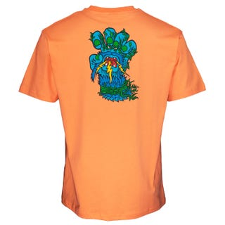 Santa Cruz Bigfoot Screaming Hand T-Shirt Salmon