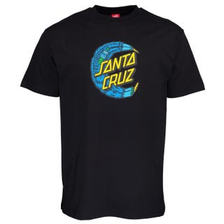 Santa Cruz Bigfoot Moon Dot T-Shirt Black