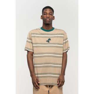 Santa Cruz Bones T-Shirt Mushroom Stripe