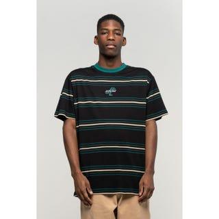 Santa Cruz Bones T-Shirt Black Stripe