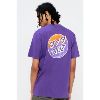 Santa Cruz Mixed Up Dot Fade T-Shirt Purple