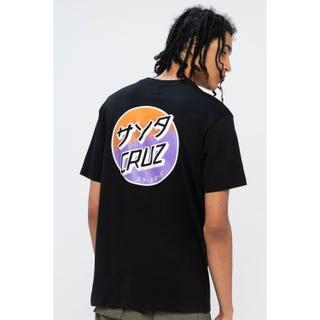 Santa Cruz Mixed Up Dot Fade T-Shirt Black