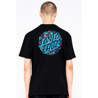 Santa Cruz Foliage Dot T-Shirt Black