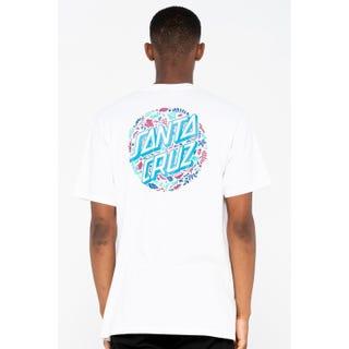 Santa Cruz Foliage Dot T-Shirt White