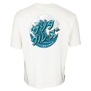 Santa Cruz Japanese Wave Dot T-Shirt Off White
