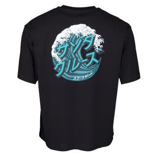 Santa Cruz Japanese Wave Dot T-Shirt Black