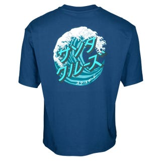 Santa Cruz Japanese Wave Dot T-Shirt Navy