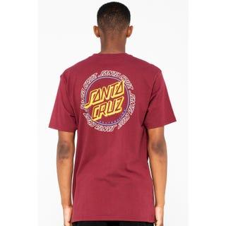 Santa Cruz Hollow Ring Dot T-Shirt Burgundy